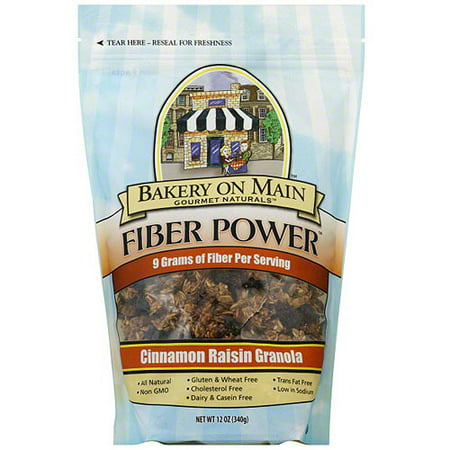 - Bakery On Main Gourmet Naturals Fiber Power Cinnamon Raisin Granola, 12 oz (Pack of 6)