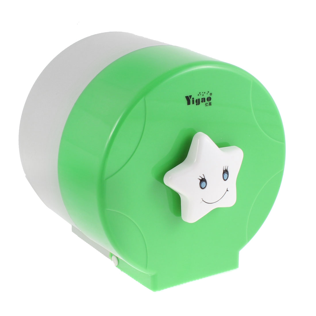 Unique Bargains Plastic Cylindrical Design Toilet Paper Rack Tissue Holder Box Green