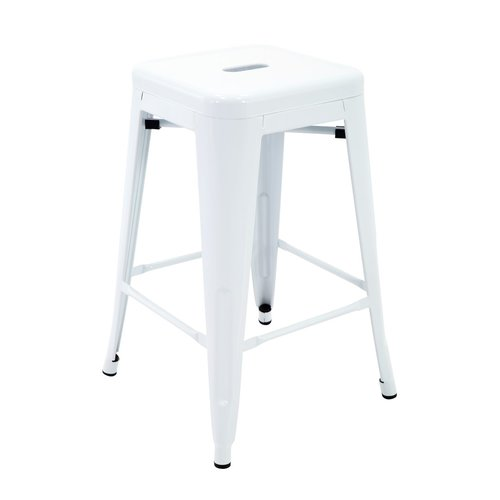 Ivy Bronx Feiss Stackable Indoor and Outdoor Metal Patio Counter 24'' Bar Stool (Set of 4) by