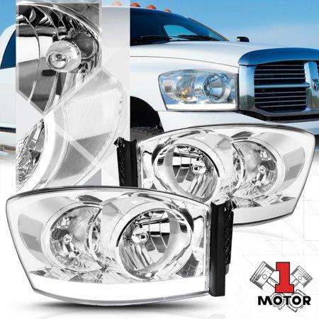 Chrome Housing Headlight Led Drl Clear Signal For 06 09 Dodge Ram 1500 2500 3500 07 08