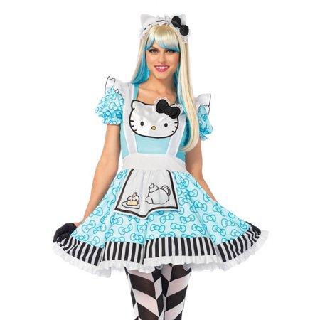 Leg Avenue Hello Kitty Alice Womens Adult Costume - Womens Hello Kitty Costume