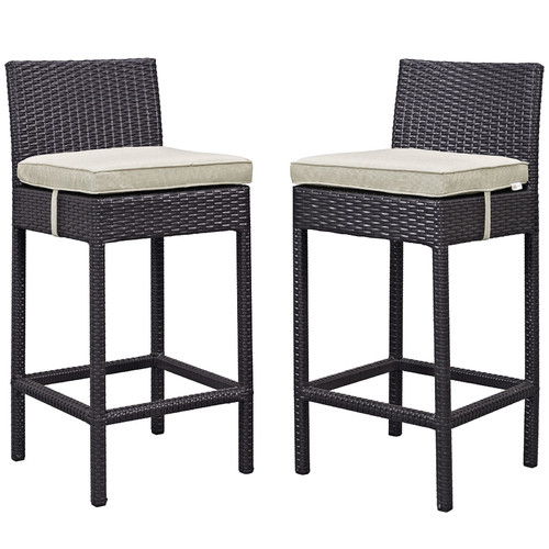 Modway Lift Bar Stool Outdoor Patio, Set of 2, Multiple Colors