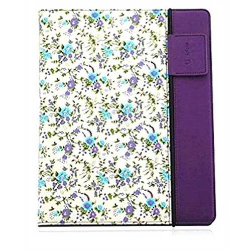 Refurbished Splash Raindrop Leather Case for iPad Mini - Purple Flower