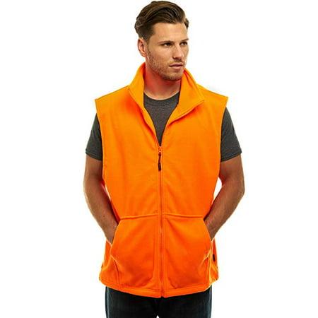 TrailCrest Mens Blaze Orange Fleece Hunting Vest, 3X thumbnail