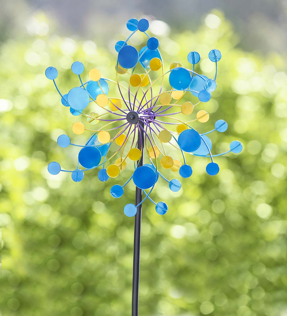 Midi Confetti Garden Wind Spinner, 4' H by Plow & Hearth