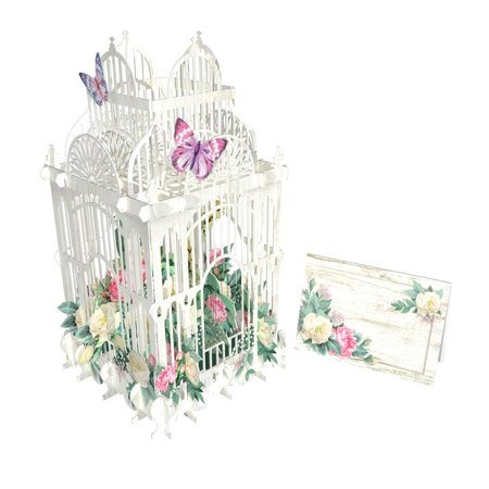 Paper d'Art Flower Cage 3D Pop Up Greeting Card (Other) Wedding Card Cage