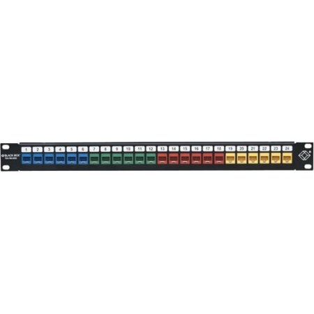 Black Box GigaStation2 High-Density Multimedia Patch Panel, 24-Port, 1U