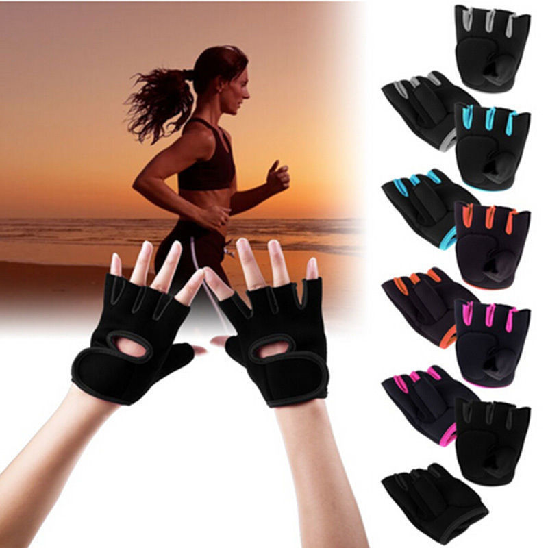 Workout Gloves Weight Lifting Body Building Exercise Training Fitness Gym Sport (Medium) (Black)