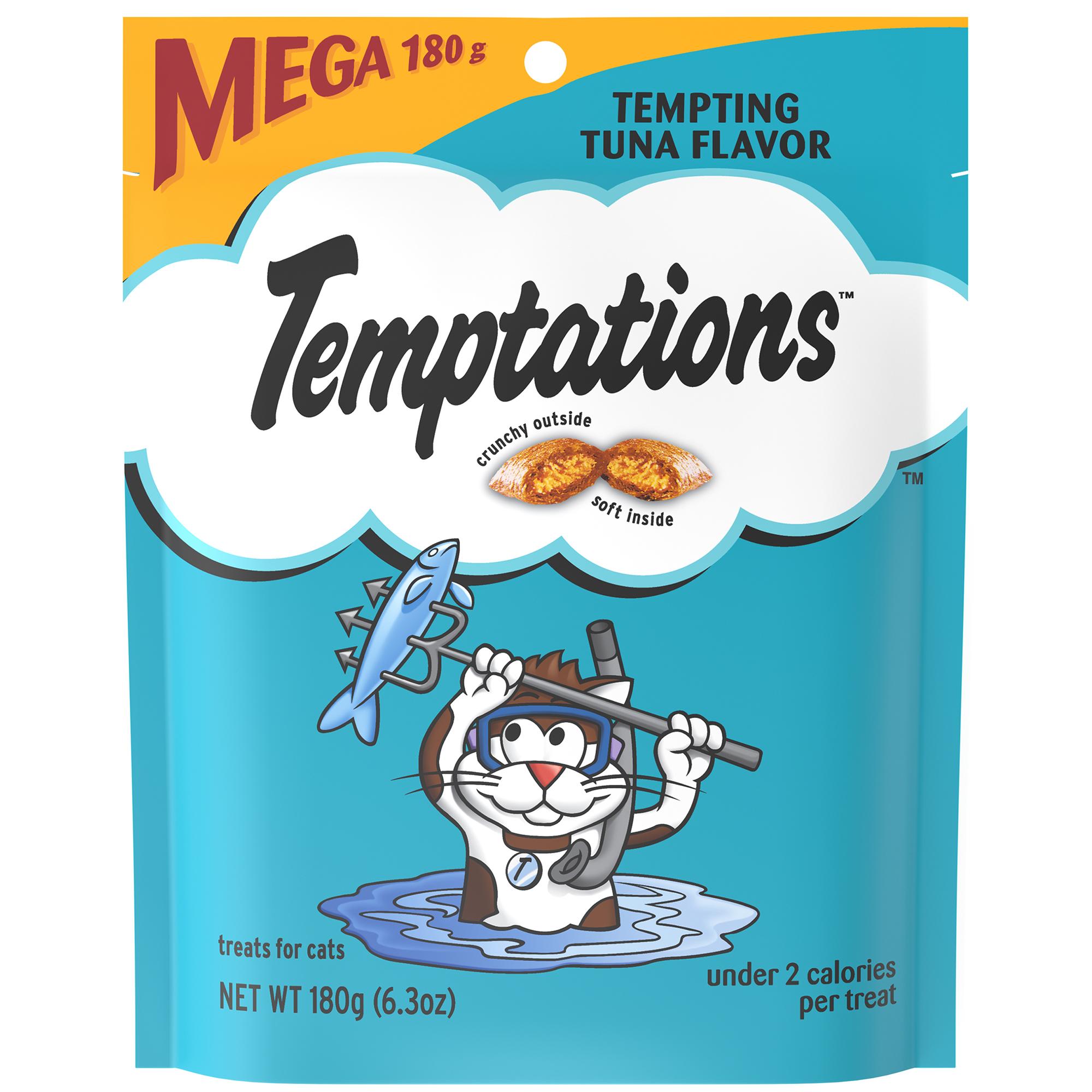TEMPTATIONS Classic Treats for Cats Tempting Tuna Flavor, 6.3 oz. Pouch