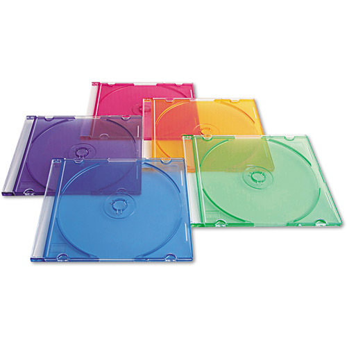Verbatim CD/ DVD Color Slim Cases 50-Pack, 94178