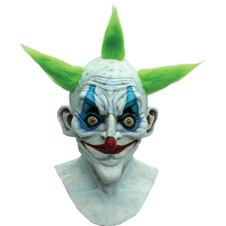 Old Clown Latex Mask Adult Halloween Accessory