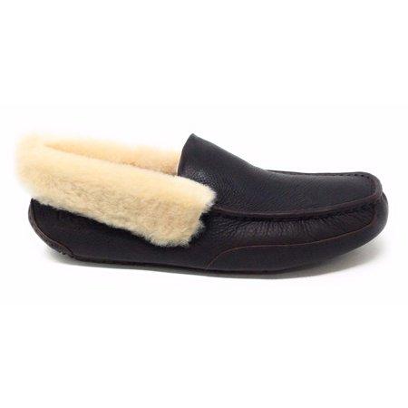 UGG Mens Grantt Dark Brown China Tea Leather Slipper Shoe Size 17 M