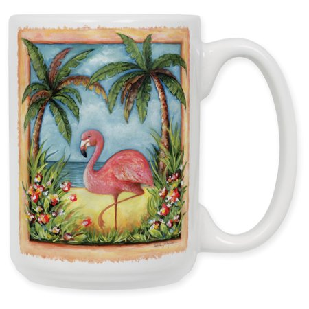 15 Ounce Ceramic Coffee Mug - Flamingo