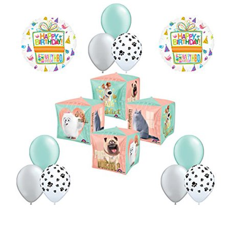 12pc The Secret Life of Pets Birthday Party Balloon Decorations (Pet Party)