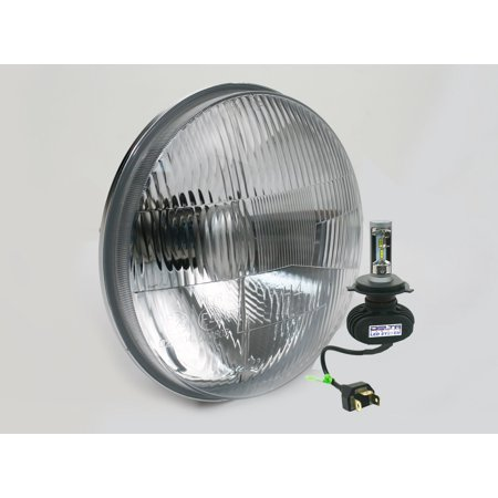 "- Classic 7"" Hi/ Lo LED headlight with HALO & Green LED Mood Light. (SINGLE)"