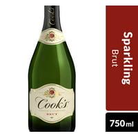 Cook's California Champagne Brut White Sparkling Wine, 750 mL Bottle