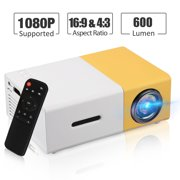 """Home Theater Projector, TSV Portable LED Projector, Smartphone Pocket Projector with HDMI USB MicroSD Card Slot for Video/Movie/Game/Home Theater Video Projector, Support HDMI 1080P HD 220"""" Screen"""