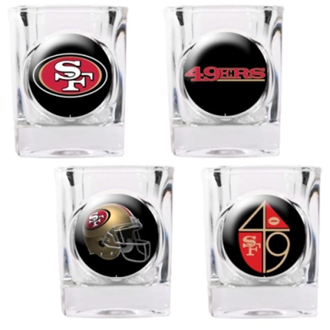Great American Products 41105 4pc Collectors Shot Glass Set- San Francisco 49Ers