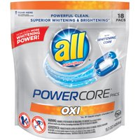 all Oxi POWERCORE PACS Laundry Detergent 18 ct Pouch