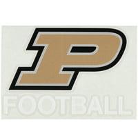 "Purdue Boilermakers 5.5"" x 3.5"" Football Decal"