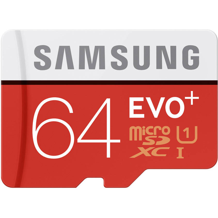 Samsung 64GB EVO+ microSDHC Card with Adapter, MB-MC64DA/AM