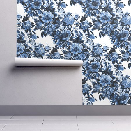 Peel-and-Stick Removable Wallpaper Mid Century Modern Flower Mid Century