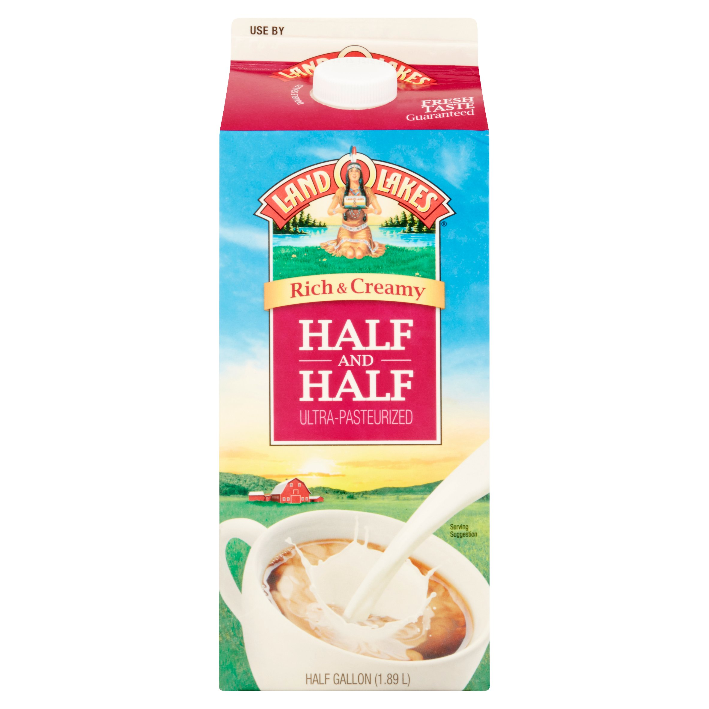 Land O Lakes Rich & Creamy Half and Half Ultra-Pasteurized Milk, 1/2 Gallon