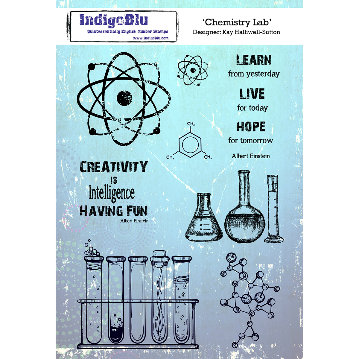 """IndigoBlu Cling Mounted Stamp 8""""X5.5""""-Chemistry Lab - image 1 of 1"""