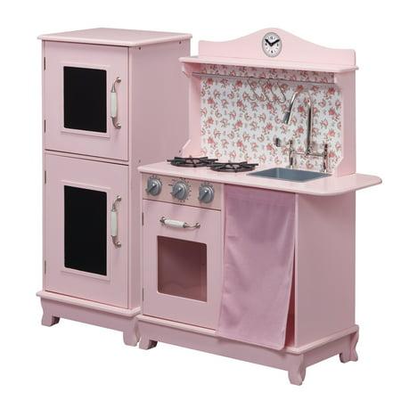 Walmart: Teamson Kids - Sunday Brunch Wooden Play Kitchen – Pink Only $89.99 (Was $270)
