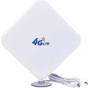 4G High-performance LTE Antenna 35dBi WiFi Signal Booster Amplifier Modem Adapter Network Receiver Antenna with Long Range for Mobile Hotspots