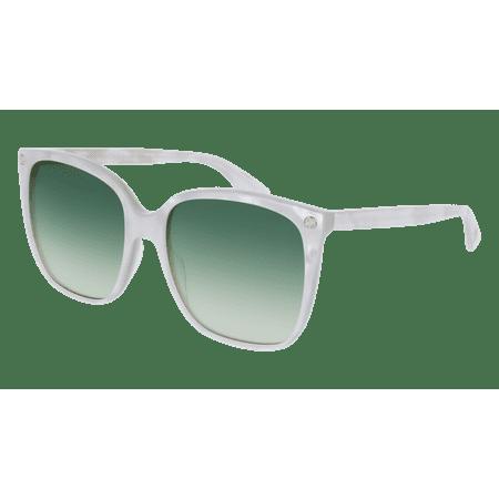 2abbcc2480d Gucci - GG0022S-004 White 57mm Gucci GG0022S Sensual Romantic Women  Sunglasses - Walmart.com