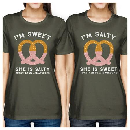 122eca64 365 Printing - Sweet And Salty Dark Grey Funny Graphic Best Friend Tee  Shirts Gift - Walmart.com