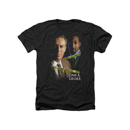 Law & Order Crime Legal Drama TV Series Briscoe&Green Adult Heather T-Shirt