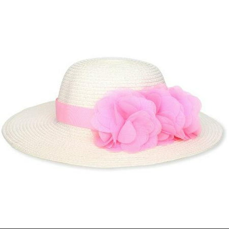 Mud Pie Baby-Girls Infant Flower Straw Hat, Multi Colored, Large