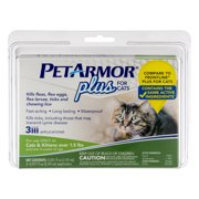 Pet Armor Plus Flea and Tick Protection for Cats, 3 Monthly Doses