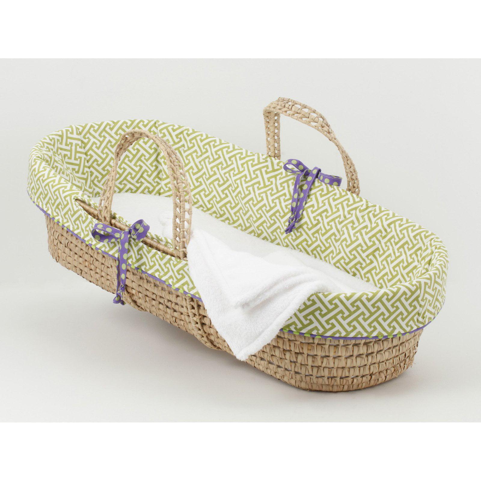 Cotton Tale Designs Periwinkle Moses Basket