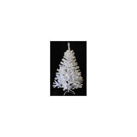 - Perfect Holiday 7' White PVC and Crystal Artificial Christmas Tree