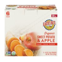 Earth's Best Organic Sweet Potato & Apple Baby Food Puree 6+ Months - 6 PK, 4.0 OZ