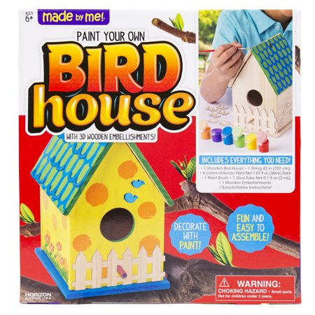 Made by Me Wooden Bird House Kit With 3D Wooden Embellishments