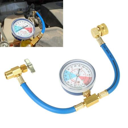 AC R134A Car Auto Air Conditioning Refrigerant Recharge Measuring Hose Gauge Kit