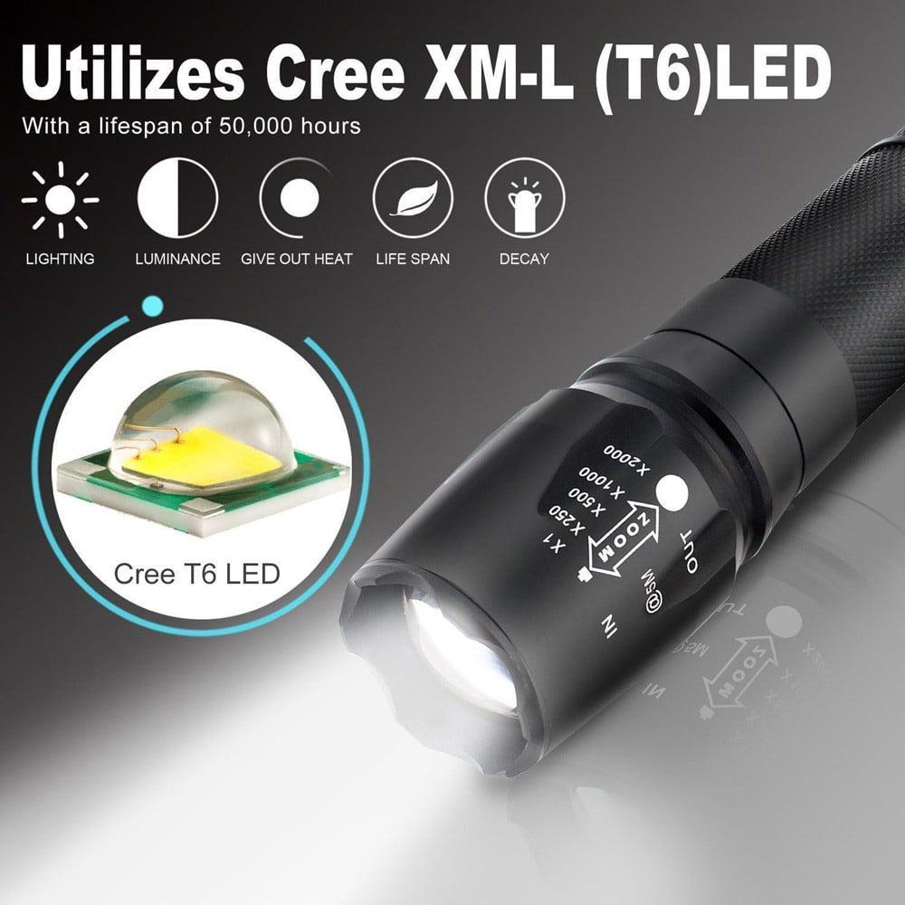 Waterproof Zoomable Flashlight Tactical LED MINI Flashlight G700 Military Grade