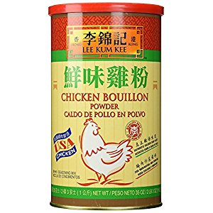 Lee Kum Kee Chicken Bouillon - Chicken Powder (35 oz) + One NineChef Spoon (24 Bottle)