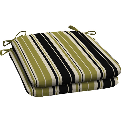 Better Homes and Gardens Outdoor Wrought Iron Seat Pad, Set of 2, Simple Stripe