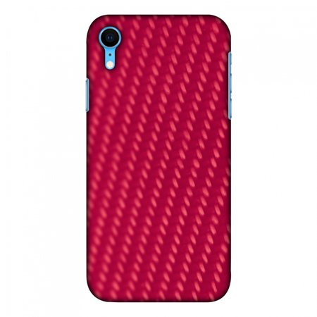 iPhone Xr Case, Ultra Slim Case iPhone Xr Handcrafted Printed Hard Shell Back Protective Cover Designer iPhone Xs Max Case [6.1 Inch, 2018] - Carbon Fibre Redux Candy Red