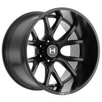 "20"" Inch Hostile H113 Rage 20x9 8x165.1(8x6.5"") +12mm Satin Black Wheel Rim"