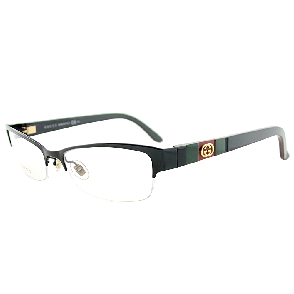 gucci gg4213 gb5 17 s semi rimless eyeglasses
