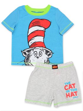 Dr. Seuss The Cat in the Hat Toddler Boys 2 piece Shorts Pajamas Set K183974SE