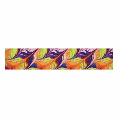 YUSDECOR Funny Abstract Colored Nail Polish Table Runner for Office Kitchen Dining Wedding Party Banquet 16x72 Inch - image 2 of 2
