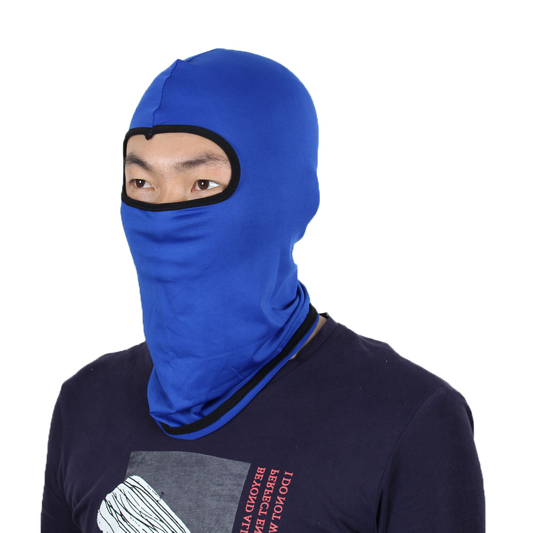 Full Face Mask Outdoor Activities Neck Protector Hat Helmet Balaclava Dark Blue by Unique-Bargains