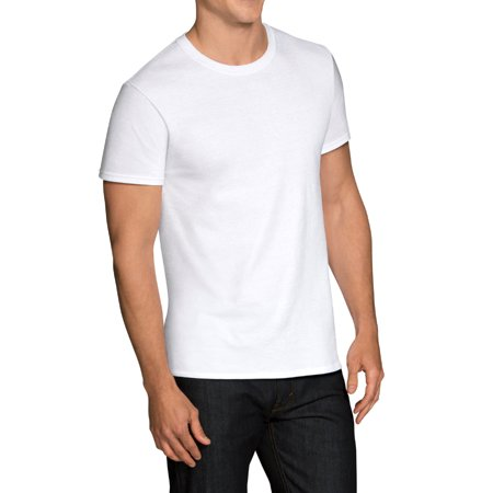 Men's Dual Defense White Crew T-Shirts, 3 Pack 3 Pack Cotton V-neck Tee